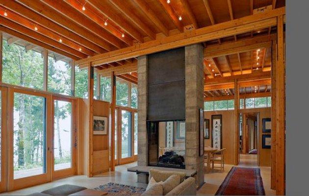 Acabados interiores de madera - Revestimientos de paredes interiores en madera ...