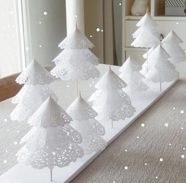 Cmo hacer originales arboles de navidad con papel de pastelera for Ideas originales decoracion navidad