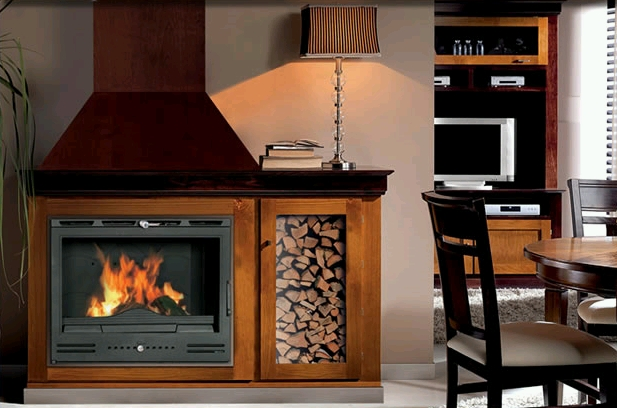 Calderas estufas o chimeneas de le a gas leo o pellets - Como disenar una chimenea de lena ...
