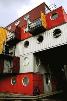 Prefabricated houses using containers