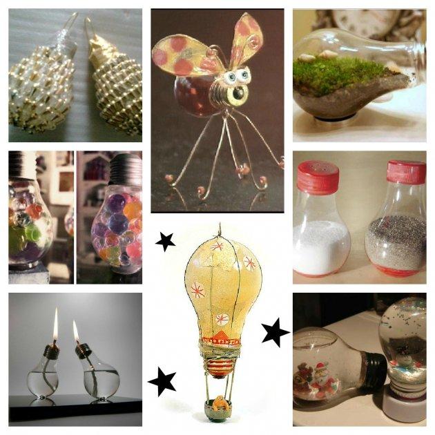 Reutilizar bombillas para decoracin - Bombillas de decoracion ...